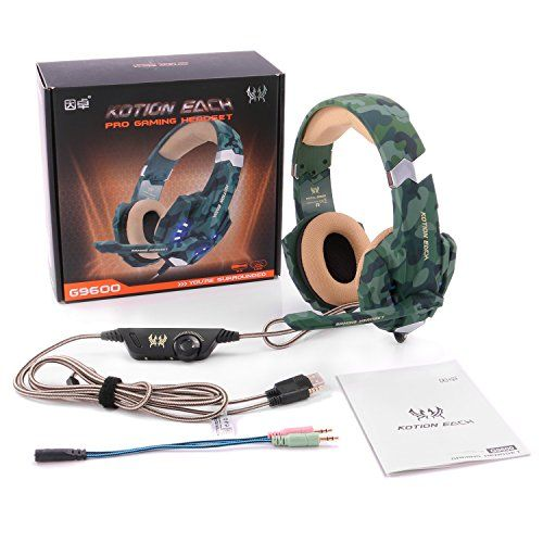photo Wallpaper of EasySMX-Gaming Headsets, EasySMX LED Beleuchtung Noise Cancellation Stereo Gaming Headset Mit Mikrofon 3,5mm-Camouflage