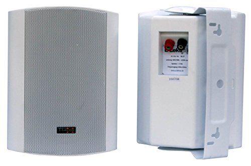 photo Wallpaper of E-Lektron-E Lektron EWL5P Stereo Passiv Lautsprecher Paar Inkl. Wandhalter Für Innen-Weiß