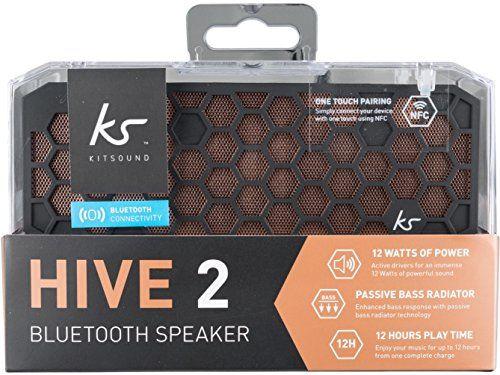 photo Wallpaper of KitSound-KitSound Hive2 Wireless Bluetooth Tragbarer Lautsprecher Mit 3,5mm Audioeingang Kompatibel Mit Apple IOS-Schwarzkupfer