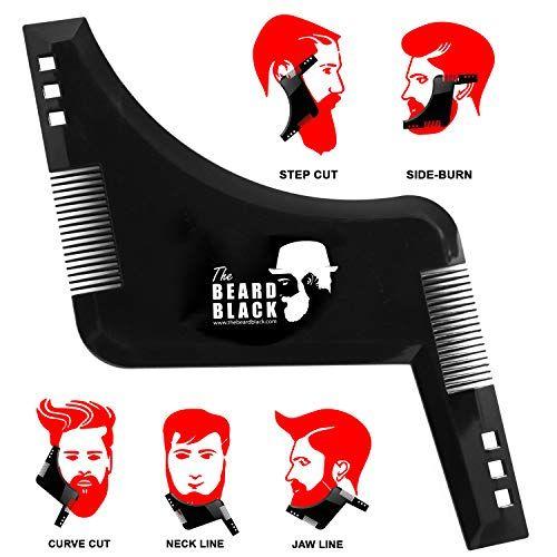 photo Wallpaper of The Beard Black-Bartschablone Bartvorlage Styling, Bartpflege Bartschablone Bartformen Für Kinnbart Koteletten Hals, Bartkamm Styling Tool-Schwarz