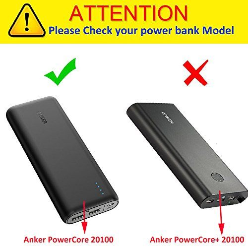 photo Wallpaper of Khanka-Für Anker PowerCore 20100mAh 20100 Externer Akku 2 Port 4.8A Output Power Bank-Schwarz