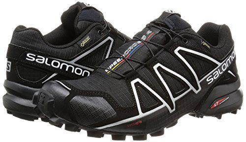 photo Wallpaper of Salomon-Salomon Speedcross 4 GTX Herren Trailrunning Schuhe, Black/Black/Silver Metallic X, 43-Schwarz (Black/Silver Metallic-x)