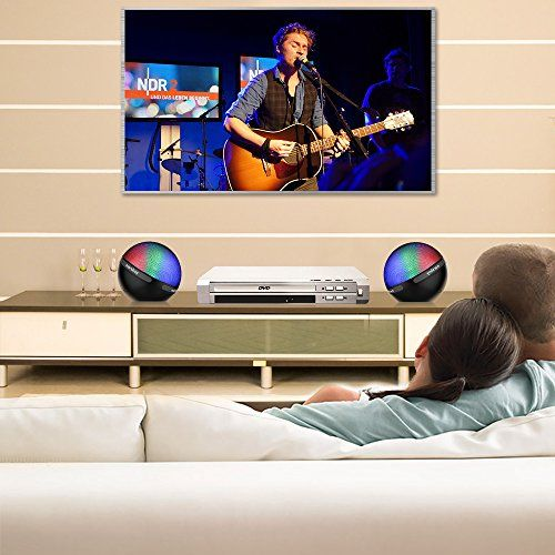 photo Wallpaper of marsboy-Marsboy Farbe LED Design Bluetooth 4.1 Lautsprecher Tragbar Drahtlos Mit TWS Funktion-Schwarz