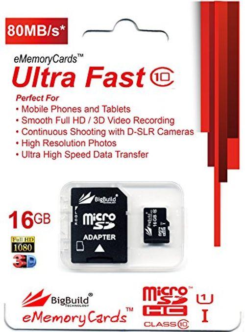 photo Wallpaper of eMemoryCards-EMemoryCards 16GB Ultra Schnell Klasse 10 Micro SD SDHC Speicherkarte Für Hp-
