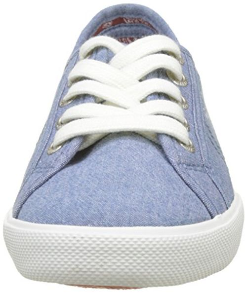 photo Wallpaper of Pepe Jeans-Pepe Jeans London Damen Aberlady Eighty Sneaker, Blau (Azzurro), 36 EU-Blau (Azzurro)
