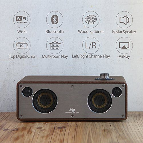 photo Wallpaper of GGMM-GGMM M3 Multiroom Lautsprecher Wi Fi/ Bluetooth Lautsprecher AirPlay Lautsprecher-Kaffee