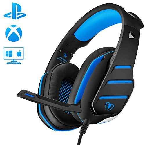 photo Wallpaper of Beexcellent-Gaming Headset Mit Mikrofon Für PC PS4 Xbox One, Beexcellent Professional Stereo Sound-Blau