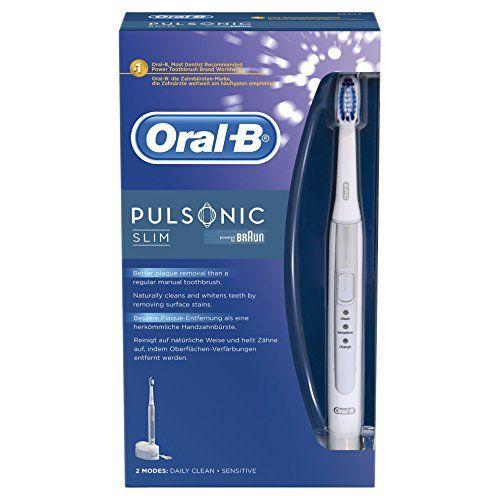 photo Wallpaper of Oral-B-Oral B Pulsonic Slim   Cepillo De Dientes Eléctrico Recargable-Blanco Y Plata