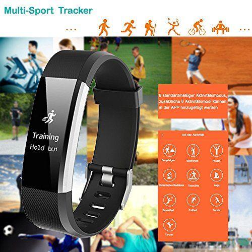 photo Wallpaper of YAMAY-YAMAY Fitness Armband Uhr Mit Pulsmesser,Wasserdicht IP67 Fitness Tracker Aktivitätstracker Pulsuhren Bluetooth Smart-Schwarz