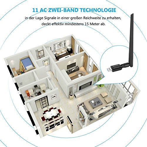 photo Wallpaper of YATWIN-USB WLan Adapter 1200Mbps, YATWIN 802.11ac Zwei Band 2.4G/5G Drahtloser Netzwerk Adapter-