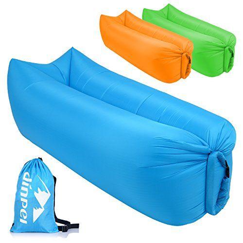 photo Wallpaper of DINPEI-DINPEI Aufblasbares Sofa, Wasserdichtes Aufblasbarer Liege Luft Sofa Mit Tragebeutel, Tragbarer Aufblasbare Sitzsack Couch-Blau