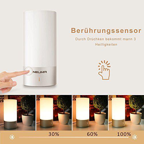 photo Wallpaper of NEUMA-NEUMA Smart Nachttischlampe, LED Schreibtischlampe, Dimmbar, Warmweiß, Kinderzimmer Nachtlicht, Touch-