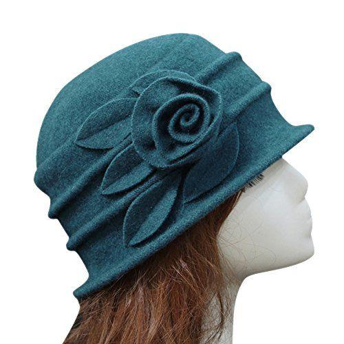 photo Wallpaper of West See-West See Damen Vintage Wolle Cloche Bucket Hut Beret Topfhut Mit-Blau