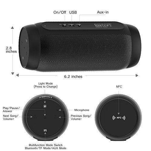 photo Wallpaper of EARAMBLE-Earamble LED Bluetooth Lautsprecher,10Watt, Portabel, Bluetooth 4.2, Hifi Stereo Sound,-schwarz