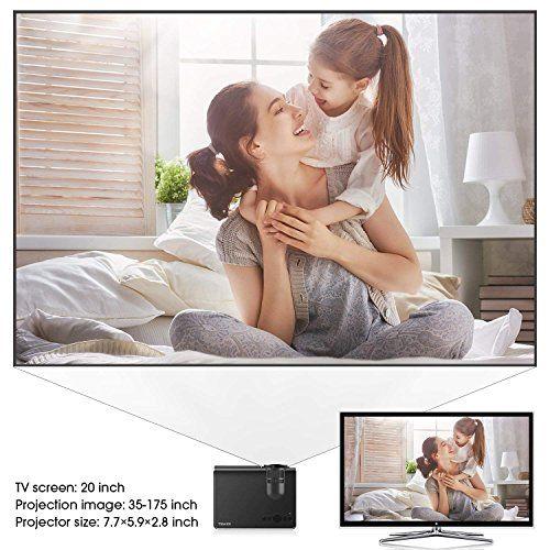photo Wallpaper of TENKER-Beamer, 2018 Aktualisiert Tenker Q5 Mini Beamer + 21% Lumen Full HD 1080P Video-Schwarz