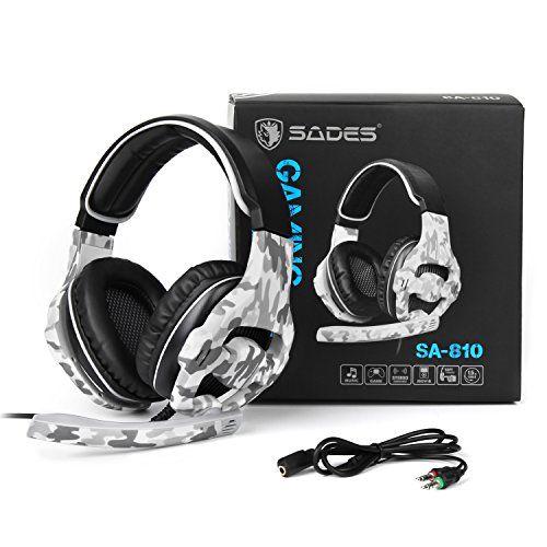 photo Wallpaper of Sades-SADES SA810 Neu Aktualisiert Xbox One Mikrofon PS4 Headset Over Ear-SA810Camouflage