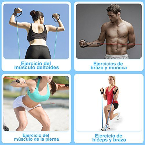 photo Wallpaper of YISSVIC-YISSVIC Bandas De Resistencia Ejercicio De Fitness Cintas Elásticas 5-