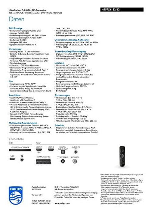 photo Wallpaper of Philips-Philips 49PFS4132/12 123cm (49 Zoll) LED Fernseher (Full HD)-schwarz