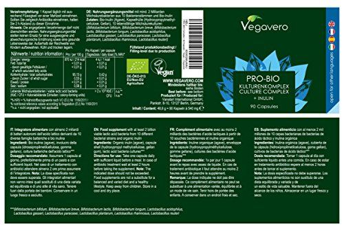 photo Wallpaper of Vegavero-Bio Probiótico Orgánico Premium | 10 Cepas Bacterianas + Inulina Prebiótica   Para-