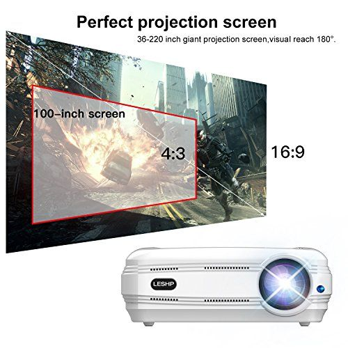 photo Wallpaper of OCDAY-LED Beamer Full HD, OCDAY 1080p Video LCD Heimkino Beamer 3200 Lumen Home-Weiß