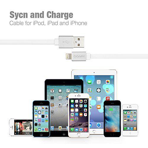 photo Wallpaper of GGMM-[Apple MFI Zertifiziert] GGMM® Lightning Kabel Syncwire Datenkabel Ladekabel Dauerhaftes Flachkabel-Lightning-Weiß
