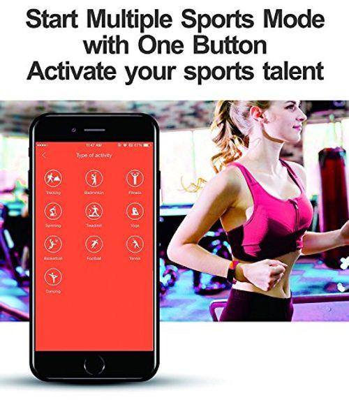 photo Wallpaper of Pruvansay-Fitness Armbänder, Pruvansay Fitness Tracker Mit Pulsmesser, Fitness Aktivitätstracker Schrittzähler, Schlaf Monitor,/ Kalorienzähler,-Schwarz