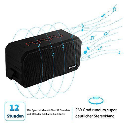 photo Wallpaper of DEEPOW-Bluetooth Lautsprecher, IP67 Wasserdicht Lautsprecher Von DEEPOW, Outdoor Tragbar Musik Box Für Handy,-