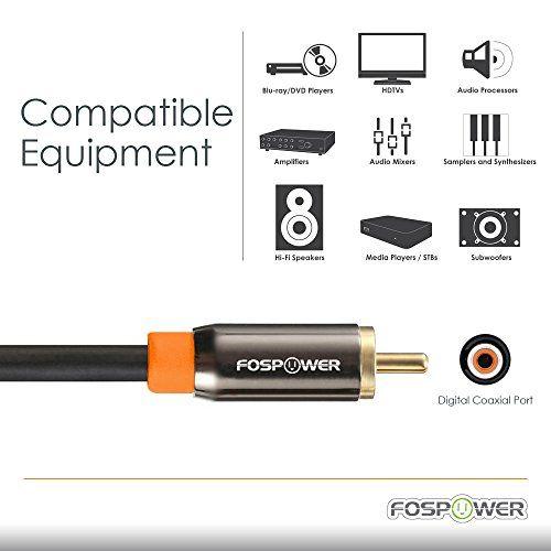 photo Wallpaper of FosPower-FosPower (1,8m) RCA Digitale Audio Kabel Koaxialkabel (24K Vergoldet) S/PDIF RCA 1 X-6ft