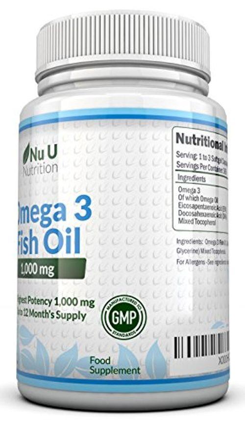 photo Wallpaper of Nu U Nutrition-Omega 3   Aceite De Pescado   1000 Mg   365-