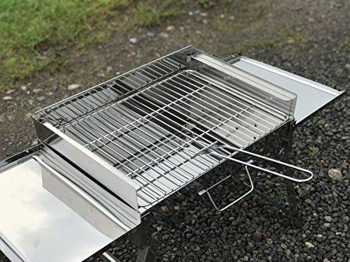 photo Wallpaper of Grillpaul-Mustang Klappgrill | BBQ Holzkohlegrill | Reisegrill | Tischgrill | Picknick-