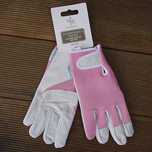 photo Wallpaper of Viridescent-Lederne Gartenhandschuhe Für Damen (kleine Größe / Mittelgroß)   Von Viridescent. Frauen Lieben-Pink