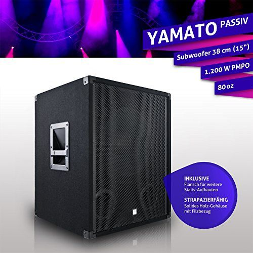 photo Wallpaper of eSmart Germany-ESmart Subwoofer Passiv | PA Lautsprecher | Für Indoor PA Anlage | 15 Zoll-YAMATO 38 cm (15