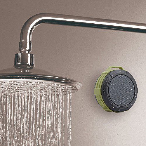 photo Wallpaper of Hcman-Bluetooth Lautsprecher Tragbar Dusche Lautsprecher,Hcman Wasserdicht Outdoor Speaker Mit Eingebautem Mikrofon Für IPhone, IPad,-Green