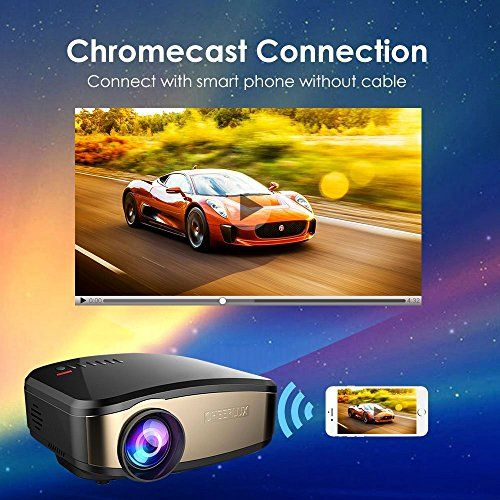 photo Wallpaper of VPRAWLS-Video Beamer, VPRAWLS Wifi Full HD Video Projektor Wireless Mini Movie Projektor Portable Mit-C6-Pro