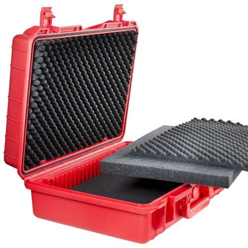 photo Wallpaper of Mantona-Mantona Outdoor Foto Equipment Schutz Koffer (Größe L, Wasserdicht, Stoßfest, Staubdicht) Rot-rot