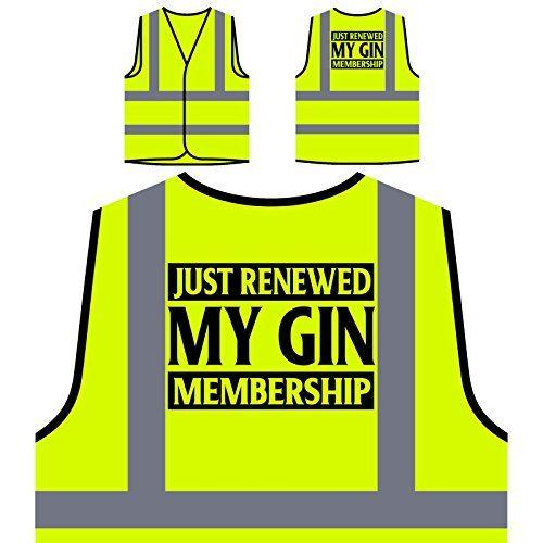 photo Wallpaper of INNOGLEN-Ich Habe Gerade Meine Gin Mitgliedschaft Erneuert Personalisierte High Visibility Gelbe Sicherheitsjacke-