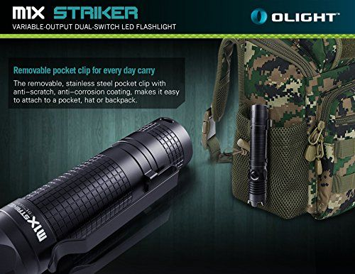 photo Wallpaper of OLIGHT-Olight® M1X Striker LED Taschenlampe Mit 18650 3400mAh Akku-M1X mit 18650 3400mAh Akku