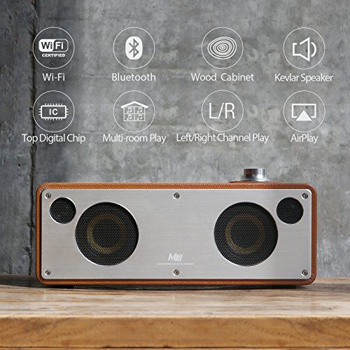 photo Wallpaper of GGMM-GGMM M3 WLAN Lautsprecher Wi Fi/ Bluetooth Lautsprecher Multiroom AirPlay-hellbraun