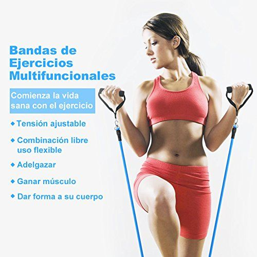 photo Wallpaper of YISSVIC-YISSVIC Bandas De Resistencia Ejercicio De Fitness Cintas Elásticas 5 PCS-