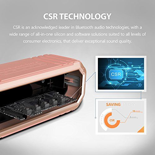 photo Wallpaper of COMISO-Bluetooth Lautsprecher, COMISO [Max_Audio] 10W Tragbarer Wasserdicht Lautsprecher Outdoor Bluetooth 4.0 Lautsprecher-Roségold