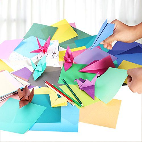 photo Wallpaper of ULTNICE-Faltpapier Origami Papier 15x15 Für DIY Kunst Handwerk 200 Blatt 50-Wie Gezeigt