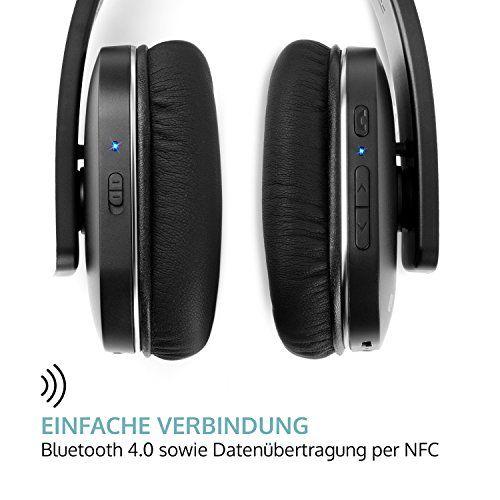 photo Wallpaper of auna-Auna Elegance • Bluetooth Kopfhörer • Bluetooth 4.0 + EDR Mit 10 M-schwarz - mit Geräuschunterdrückung