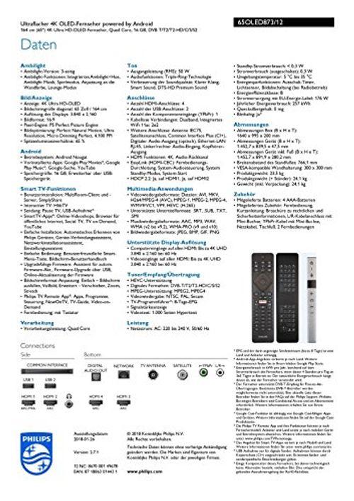 photo Wallpaper of Philips-Philips 65OLED873/12 164cm (65 Zoll) OLED Fernseher-hellsilber