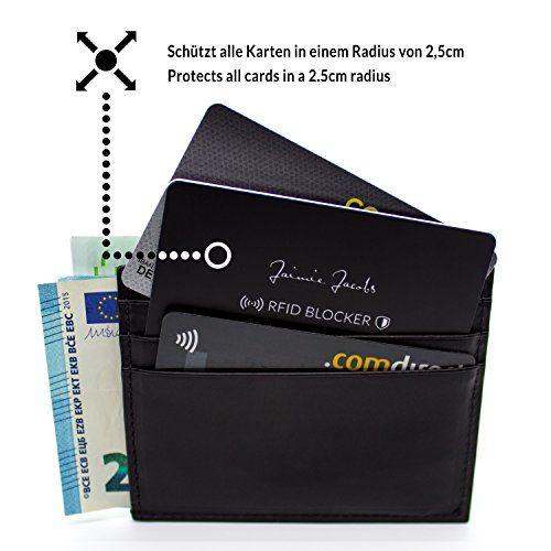 photo Wallpaper of Jaimie Jacobs-JAIMIE JACOBS ® RFID Blocker Karte RFID Schutz Für Kreditkarten NFC-Schwarz