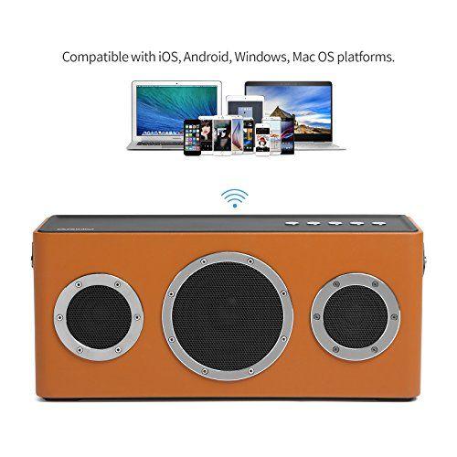 photo Wallpaper of GGMM-[Upgraded Version] GGMM M4 Airplay Lautsprecher Multiroom Wi Fi/ Bluetooth Lautsprecher 2.1 Outdoor 40W-orange