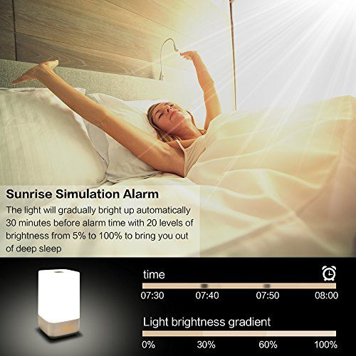 photo Wallpaper of FKANT-Luces Despertador LED Wake Up Light Despertador Con Simulación De Amanecer, 3 Brillos Y-Lichtwecker