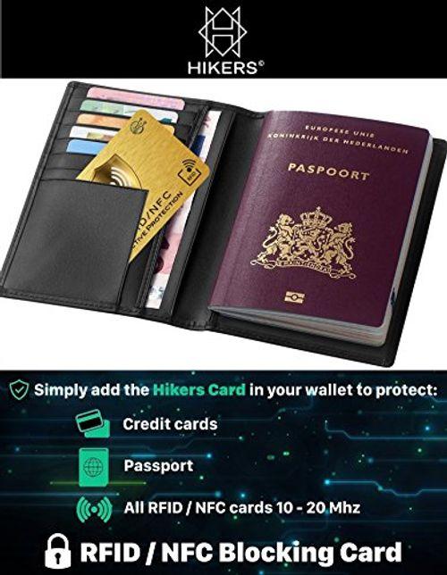 photo Wallpaper of HIKERS-RFID Blocker NFC Schutzkarte   Störsender   Keine Einzelnen Karten Schutzhüllen-Gold