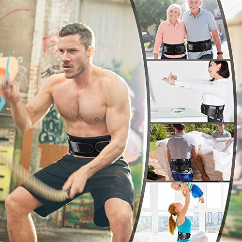 photo Wallpaper of LeaderPro-LeaderPro Cinturon Lumbar Faja Lumbar Para Mujer Y Hombre 4 Pcs Tiras De Acero-
