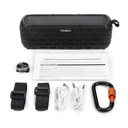 photo Wallpaper of PRUNUS-PRUNUS T 63 (Upgrade) Solar Powered Bluetooth Lautsprecher, über 35 Stunden Spielzeit,Portable Outdoor Stereo-Schwarz