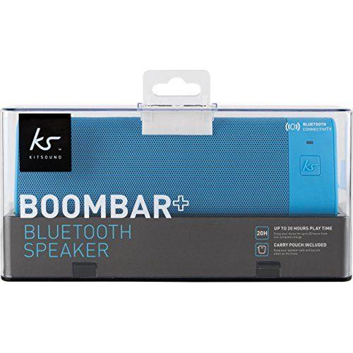 photo Wallpaper of KitSound-KitSound BoomBar+ Tragbarer Wireless Bluetooth Lautsprecher Soundsystem Mit 3.5 Audioeingang-Blau